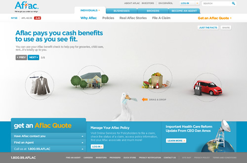 Aflac Quote Fair Great B2C Corporate Website Example Aflac