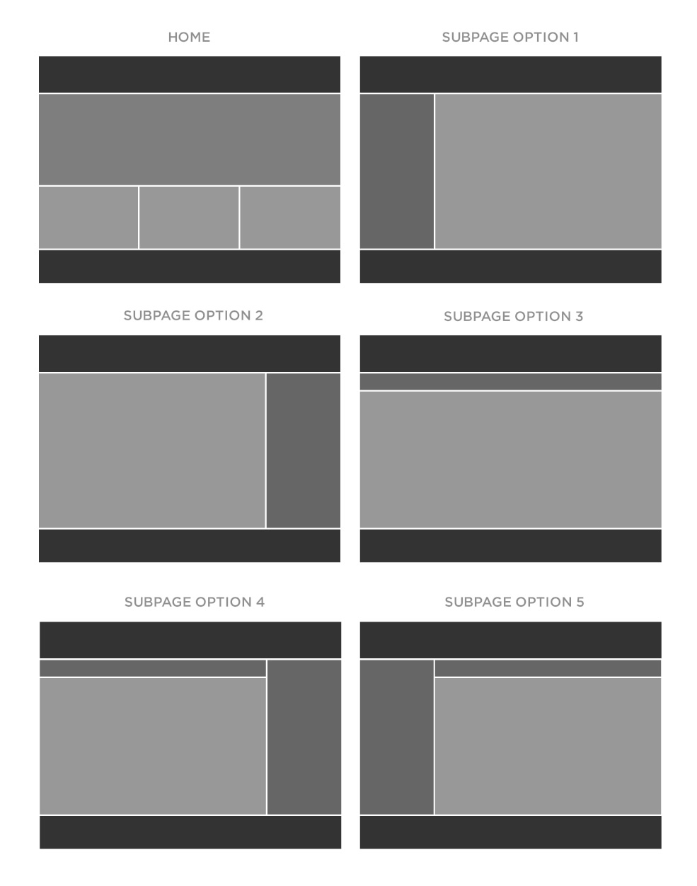 Website Wireframe Templates