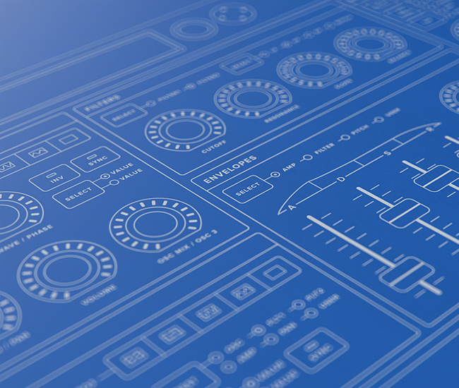 10 beautiful blueprint style wireframes via dribbble designer mikael eidenberg malvernweather Image collections