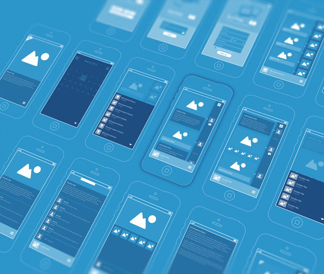 10 beautiful blueprint style wireframes via dribbble designer dash malvernweather Choice Image
